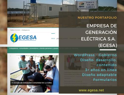 Empresa de Generación Eléctrica, S.A. (egesa.net)